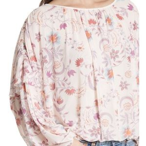 NWT Free People Floral Top
